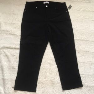 NWT Reitman's black cropped pants size 9/10